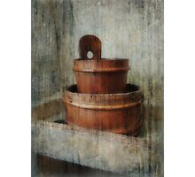 Still Life With Wooden Bucket  Photographic Print