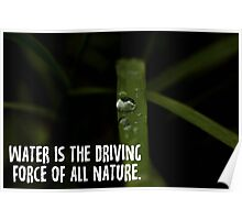 water is the driving force of all nature Poster