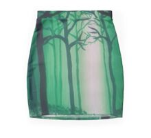 Tranquil Painted Forest Mini Skirt
