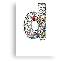 IMOK Letter D Canvas Print