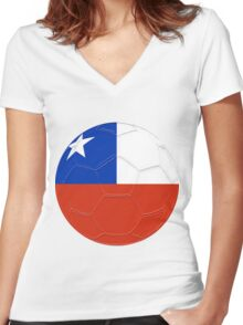 Chile Women's Fitted V-Neck T-Shirt