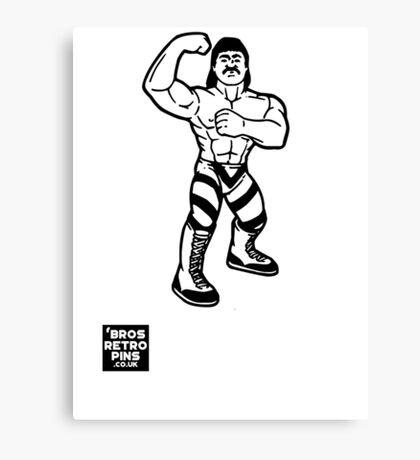 Hasbro Series 1 Rick Rude Canvas Print