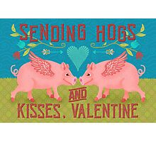 Funny Valentine's Day Cute Hogs Pig Pun Photographic Print