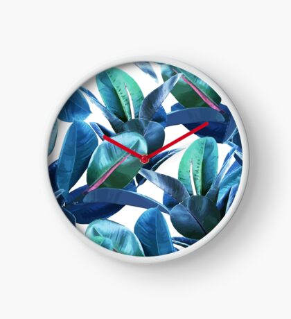 Rubber Plant #redbubble #lifestyle Clock