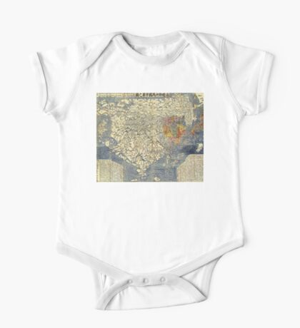 Japanese Map of Asia - 1710 One Piece - Short Sleeve