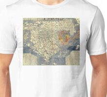 Japanese Map of Asia - 1710 Unisex T-Shirt