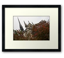 Cruising Down the Seine River and Catching a Glimpse of Notre-Dame de Paris Framed Print