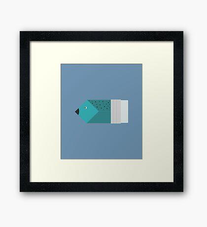 Pencil or fish? Framed Print