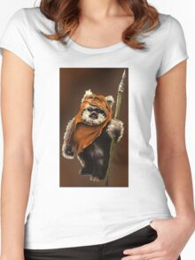 Ewok#2 Women's Fitted Scoop T-Shirt