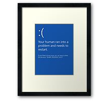 Red and Blue Screen of Death Framed Print
