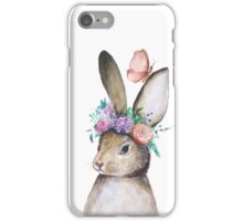 Watercolor Cute Bunny  iPhone Case/Skin