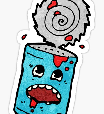 cartoon tin can Sticker