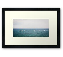Sailing in good company Framed Print