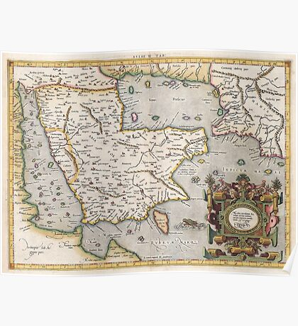 Middle East - Mercator - 1584 Poster