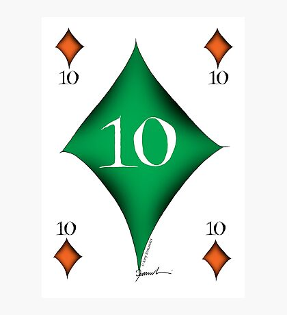 Lucky No.10 of Diamonds by Tony Fernandes Photographic Print