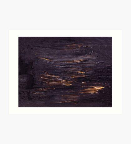 Black oil unique texture Art Print