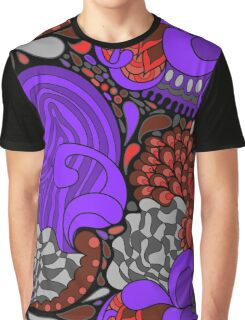 60s hippie abstract print Graphic T-Shirt