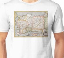 Turkey Map - Mercator - 1584 Unisex T-Shirt