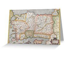 Turkey Map - Mercator - 1584 Greeting Card