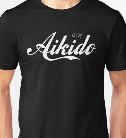 Enjoy Aikido (White) Unisex T-Shirt
