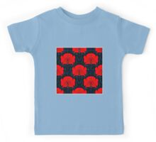 RED FLOWER; Abstract Bright Print Kids Tee