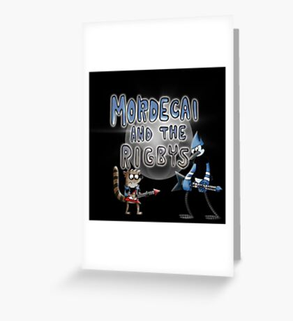 toon mordecai and the rigbys Greeting Card