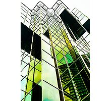 Green Mirrored Clouds Photographic Print
