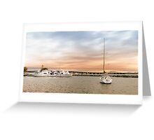 Boating at Forster 01 Greeting Card