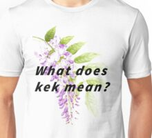 What does kek mean? Unisex T-Shirt