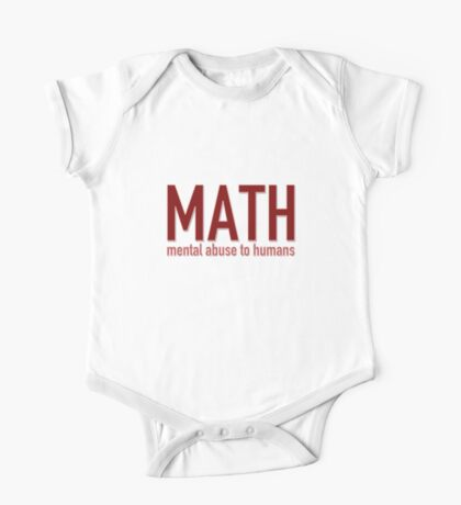 MATH - mental abuse to humans One Piece - Short Sleeve