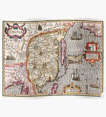 Map of China - Mercator - 1606 Poster