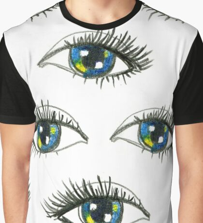 Seamless pattern in the style of psychedelic eyes. Graphic T-Shirt