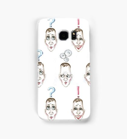 Considering the idea pattern. Head with lamp Samsung Galaxy Case/Skin