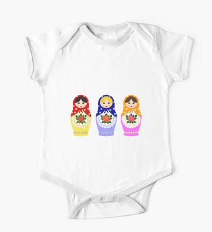 Russian matryoshka nesting dolls One Piece - Short Sleeve