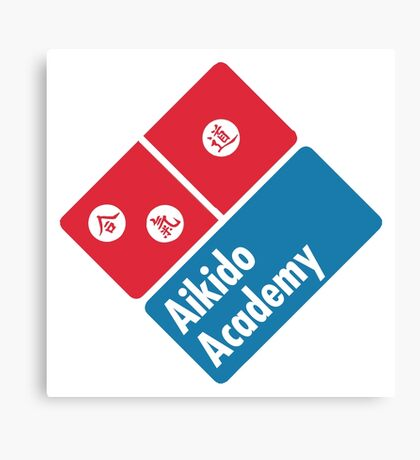 Aikido Dominoes  Canvas Print