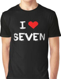 I love Seven , Mystic Messenger  Graphic T-Shirt