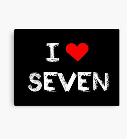 I love Seven , Mystic Messenger  Canvas Print