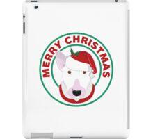 Merry Christmas Bull Terrier iPad Case/Skin