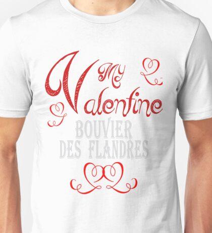 A Valentine Shirt with Bouvier des Flandres Unisex T-Shirt