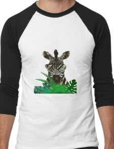 Hipster Zebra Men's Baseball ¾ T-Shirt