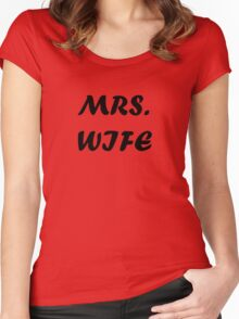 MRS WIFE Women's Fitted Scoop T-Shirt