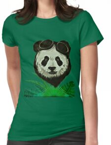 Panda Bear Wildlife Womens Fitted T-Shirt