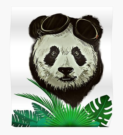 Panda Bear Wildlife Poster