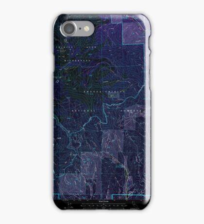 USGS TOPO Map California CA Rush Creek Lakes 101939 1998 24000 geo Inverted iPhone Case/Skin
