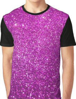 Purple Glitter Diamond Graphic T-Shirt