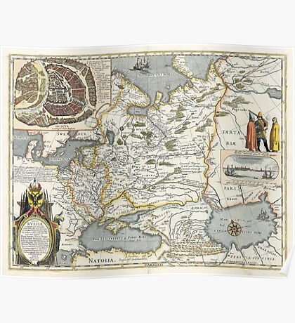 Map of Russia - Hessel Gerrits - 1613 Poster