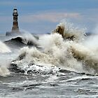 The Angry Sea - Roker Pier Sunderland by Morag Bates