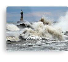 The Angry Sea - Roker Pier Sunderland Metal Print
