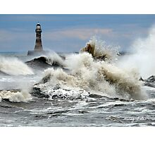 The Angry Sea - Roker Pier Sunderland Photographic Print