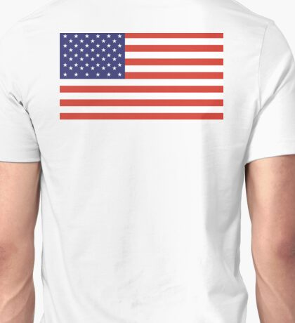 Stars and Stripes, Pure & Simple, American Flag, American, America, USA Unisex T-Shirt